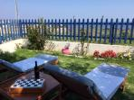 Stegna sea view cottage with garden