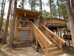 JD's Treehouse is a great two bedroom home with a hot tub and AC.