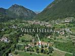 Aerial view of the Villa's wonderful location