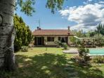 Comfortable 4 bedroom holiday villa with heated indoor and outdoor pool and private garden, sleeps 8