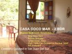 CASA COCO MAR -Nice 2 BDR Townouse in Central SJDS