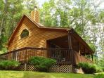 'SPRUCE RIDGE' Comfy cabin with fireplace between West Jefferson & Boone.