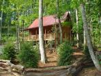 'BABBLING BROOK ' Creekside Log Cabin With Hot Tub, WiFi & Fire Pit