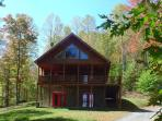 'QUIET SPLENDOR' Log Home On 32 Secluded Acres With Bubbling Hot Tub!