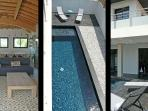 Architect villa with swimming pool – beach walking distance