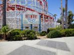 The all-wooden roller coaster, just a few blocks away, was originally built in 1925.