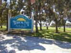 Mission Bay Park separates this condo from Belmont Park.