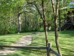 the winding path that will have you completely relaxed upon entering your cabin
