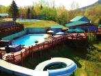 PRIVATE GATED PROPERTY: HEATED POOL/SLIDE