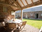 Enjoy a sheltered BBQ in the open barn