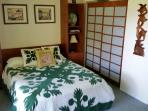 Guest bedroom with queen size murphy bed down