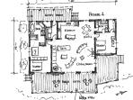 House 1 floor plan showing bed arrangements