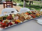 Close by to Nathans Place: Food platters available from local cellar doors