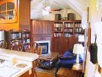 Kitchen ~ Den with Library