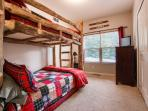 Bunk room on main level. twin over full