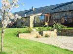 THE STABLE, pet friendly, character holiday cottage, with hot tub in Milton, Ref 3739