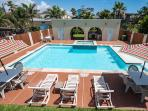 Across from beach! LARGE POOL/SPA & 2 GRILLS!