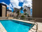 Large and sunny pool deck is located on 4th floor.