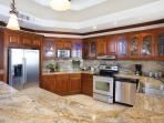 Full high-end appliances and granite countertops