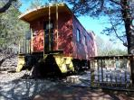 Caboose Cabin, Private Deck, Secluded Wooded Views