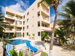 Fabulous beachfront condo with pool and onsite restaurant