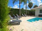 Spectacular (Private) Relaxing Heated Poolside Lounge Area Offers Chaise Lounges...