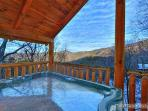Covered Hot Tub at Scenic Mountain View