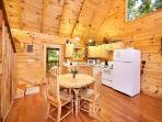 Kitchen and Dining Room at Smoky Bears Creek