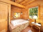 King Bedroom with Jacuzzi Tub at Smoky Bears Creek