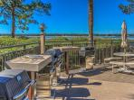 The grilling and picnic area in Beachside Tennis is located beside the pool