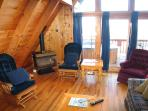 Living Room at Cozy Mountain View