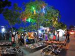 Night market at the weekend only 15min away