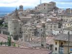 Medieval Anghiari and the beautiful Tiber Valley beyond