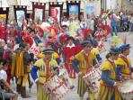 The Palio-celebrated on June 29 every year in Anghiari