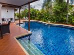Private Swimming pool with private garden
