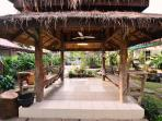 The siting area call Thai Sala with the private garden.