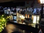 View from the window in the holiday season
