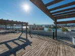 Enjoy gorgeous views of inner harbor, sunsets and city landmarks from the Building's roof top deck