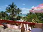 Charming Gulffront 'on the beach' Coquina Cottage and amazing tropical beach gardens.