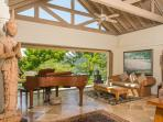 Silent Waters Villa pavilion with attendants and grand piano
