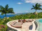 Silent Waters Villa pool and sundeck with view of Montego Bay