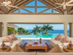 Silent Waters Villa pavilion and pool with view of the sea