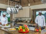 Silent Waters Villa commercial kitchen with chefs