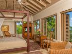 Silent Waters Villa guest suite 4 bedroom with view of the sea