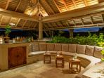 Silent Waters Villa pool side bar seating area
