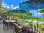 Ocean Front Patio with BBQ, Outdoor Dining and Hot Tub