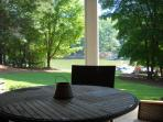 Covered patio on lake level