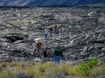 Walking over a real lava field is a unique experience only to be had in Hawaii !