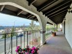 West Coast Villa I balcony with views of Castro Valley, the San Francisco Bay and great sunsets