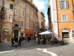 The main Piazza of the Ghetto, just near the apartment